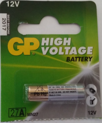 GP High Voltage Battery  27A, 12V   GP27A A27 MN27 E27A EL812 L828