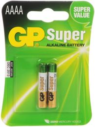 AAAA GP Super Alkaline Battery Pack LR8D425 1.5V ,  LR8D425, LR8D425, MN2500, MX2500, E96, LR61, 4061, 25A, E96, GP25A