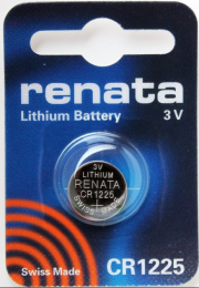Renata Lithium Battery CR1225  3V  DL1225, ECR1225, BR1225, DL1225B, BR1225-1W, CR1225-1W, KCR1225, LM1225, 5020LC