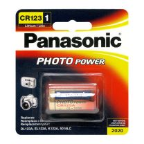 Panasonic CR123 3V lithium Power battery  123A, CR123A, CR123, CR17345, K123A, VL123A, DL123A,5018LC, EL123AP, SF123, SF123A 3V.