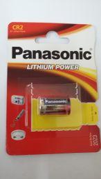 Panasonic Lithium Battery  CR2  3V,  DLCR2, DLCR2B, RLCR2, KCR2, EL1CR2, RLCR2-L, CR-2, 5046LC.