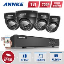 8 Channel Annke DVR Kit with 4 Dome Cameras with 1TB HDD