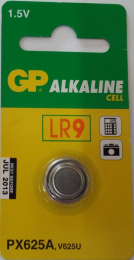 GP Alkaline Battery LR9  1.5V,  -625, 625A, A625PX, E625G, EPX625, LR09, LR9, MR09, PX13, PX625A, RPX625, V625U