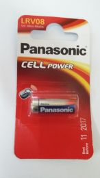 Panasonic Micro Alkaline Battery LRV08 12V   L1028, 23A, MS21, MN21, E23A, K23A, GP23A, 8LR932, 8LR23, VR22, 8F10R.