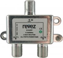 Revez    2 Way Splitter Power Pass